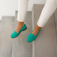 Driving Loafers : La Fille À Papa - Green Maldives