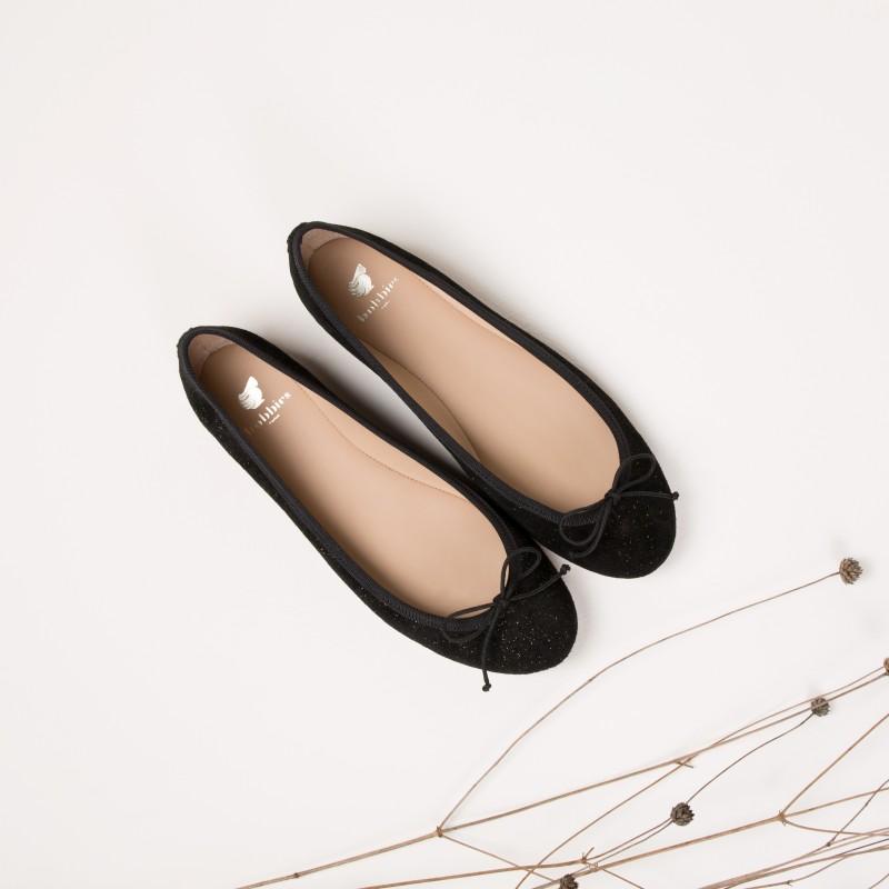 Slippers & Ballerines  : La Princesse - Noir Étoilé