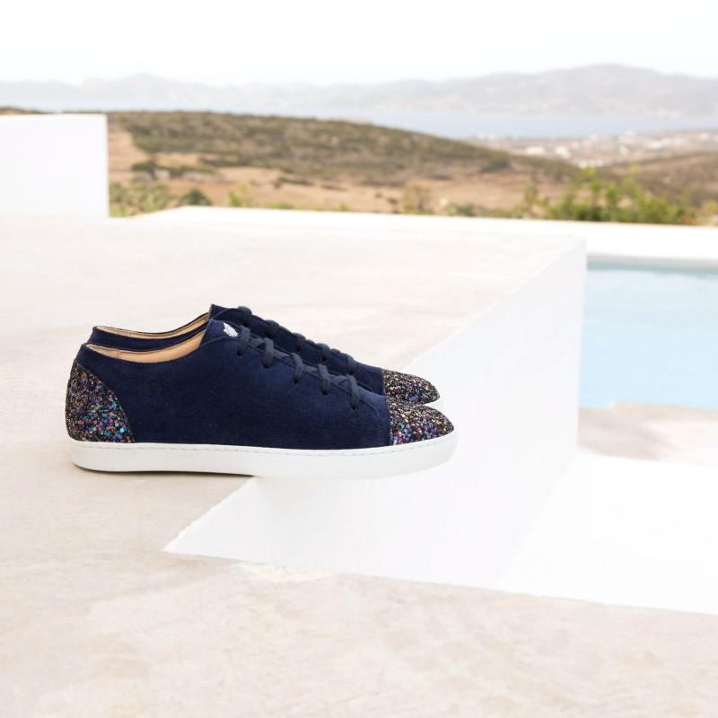 Sneakers : L'Orageuse - Bleu Marine
