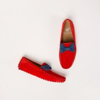Mocassins : Le Charmeur - Orange Sanguine