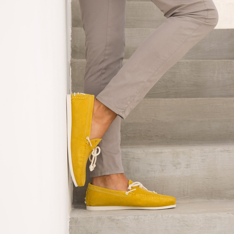 Sneaker Loafers : Le Capitaine - Jaune Orpiment