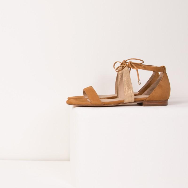 Sandales Plates : L'Aphrodite - Camel