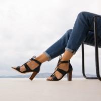 Sandales à Talon : L'Olympienne - Noir Ébène