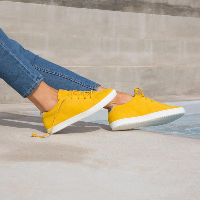 Sneakers : La Vitaminée - Jaune Ambré