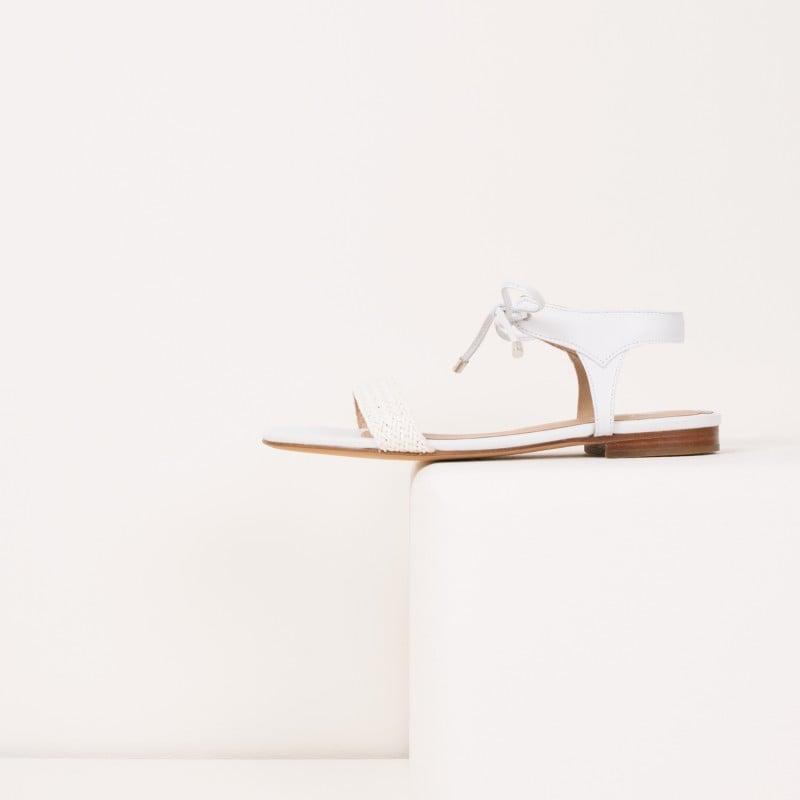 Sandales Plates : La Conquise - Blanc