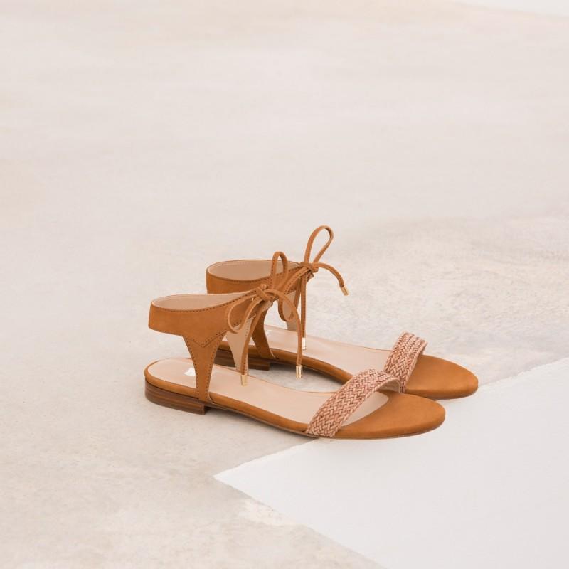 Sandales Plates : La Conquise - Camel