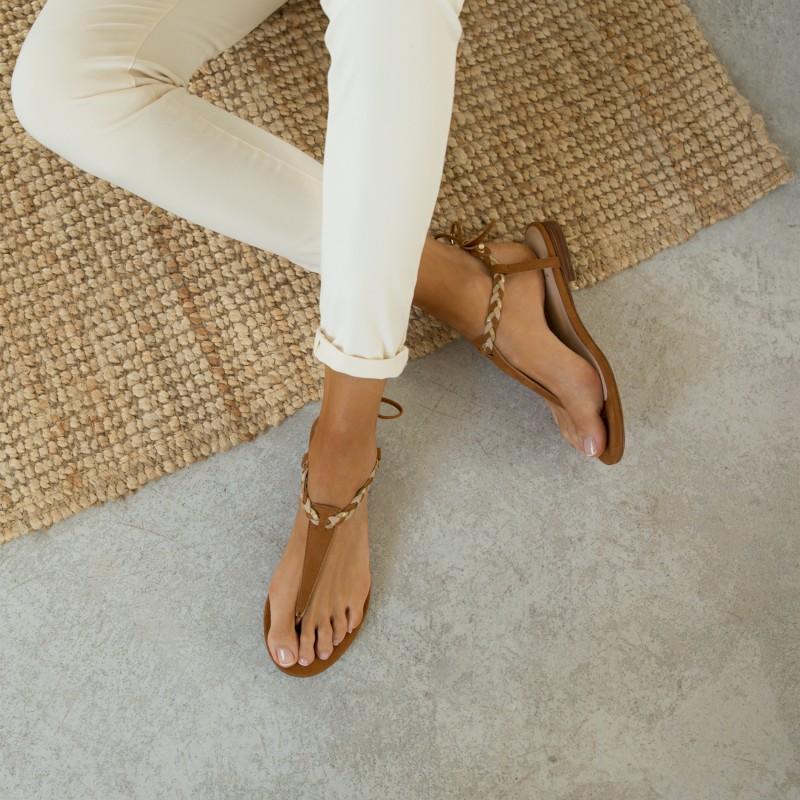 Sandales Plates : La Choupinette - Camel