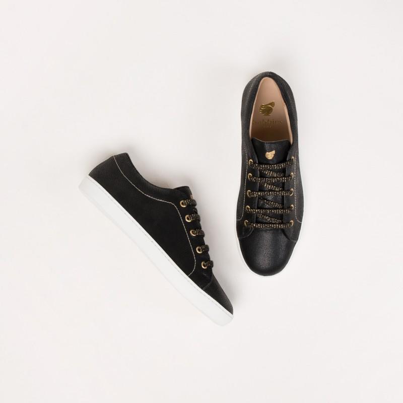 Sneakers : La Complice - Noir Reptile