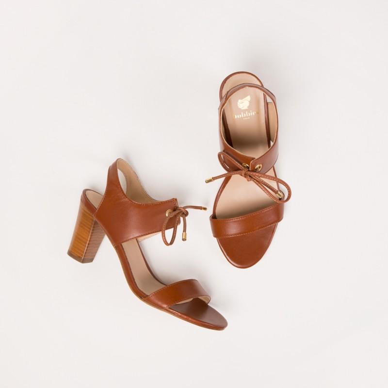 Sandales à Talon : La Perchée - Cognac