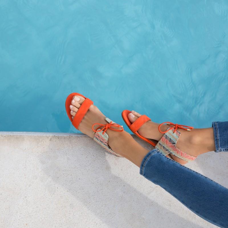 Sandales Plates : L'Enchantée - Barrière De Corail