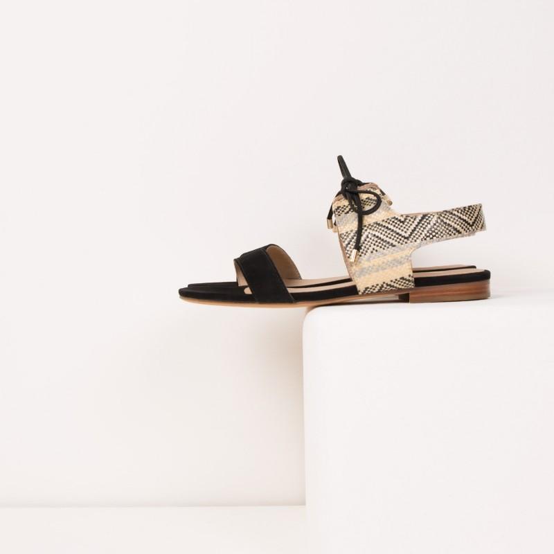 Sandales Plates : L'Enchantée - Balade Minérale