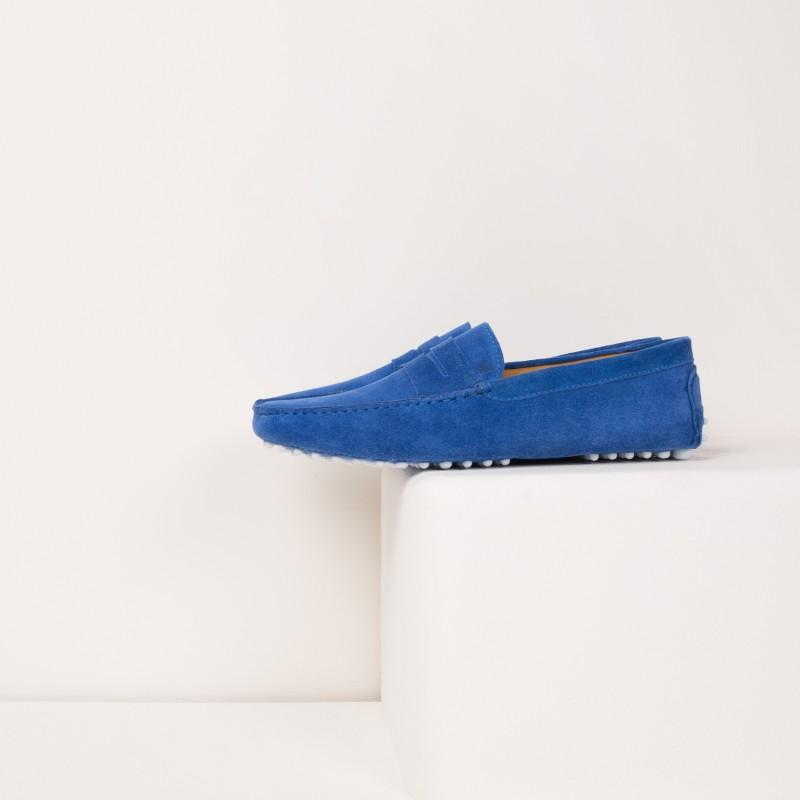 Mocassins : L'Élégant - Bleu Amparo