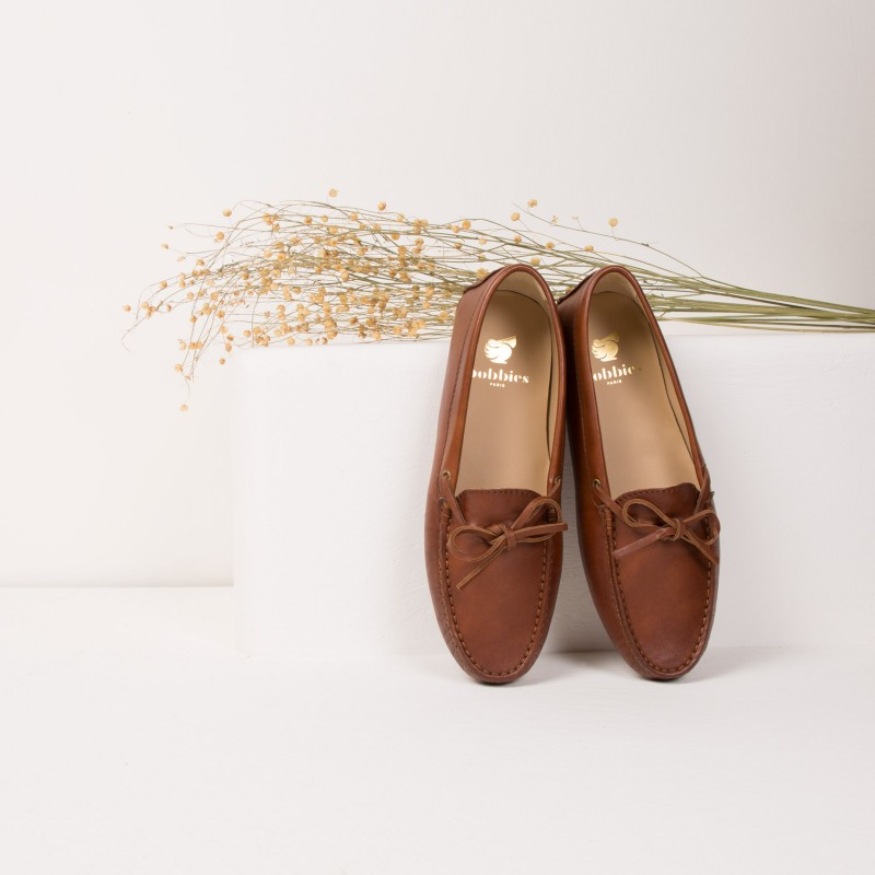 Driving Loafers : L'Amoureuse - Cognac