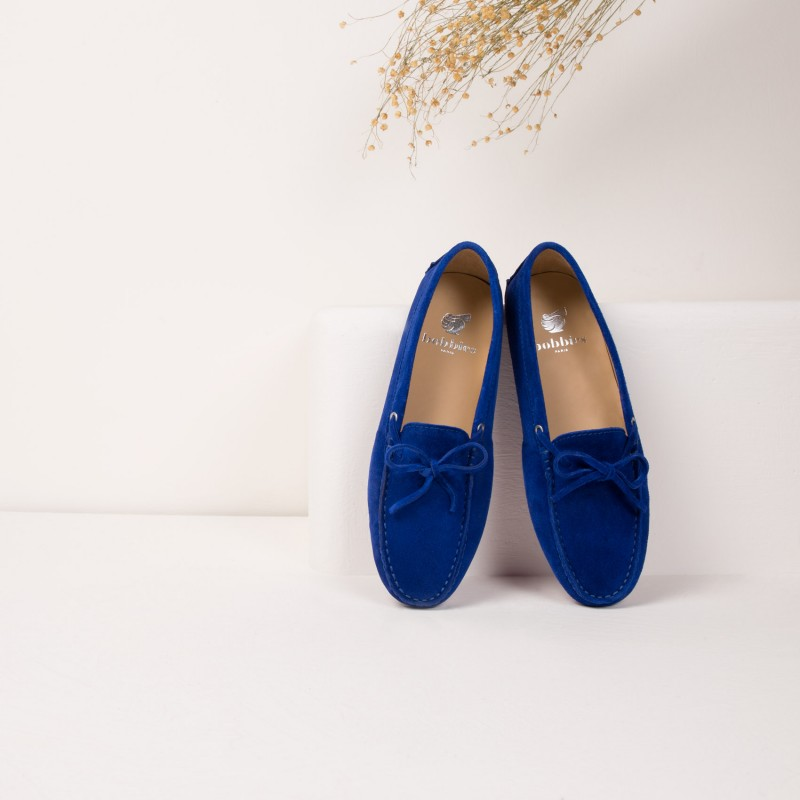 Driving Loafers : L'Amoureuse - Sapphire Blue