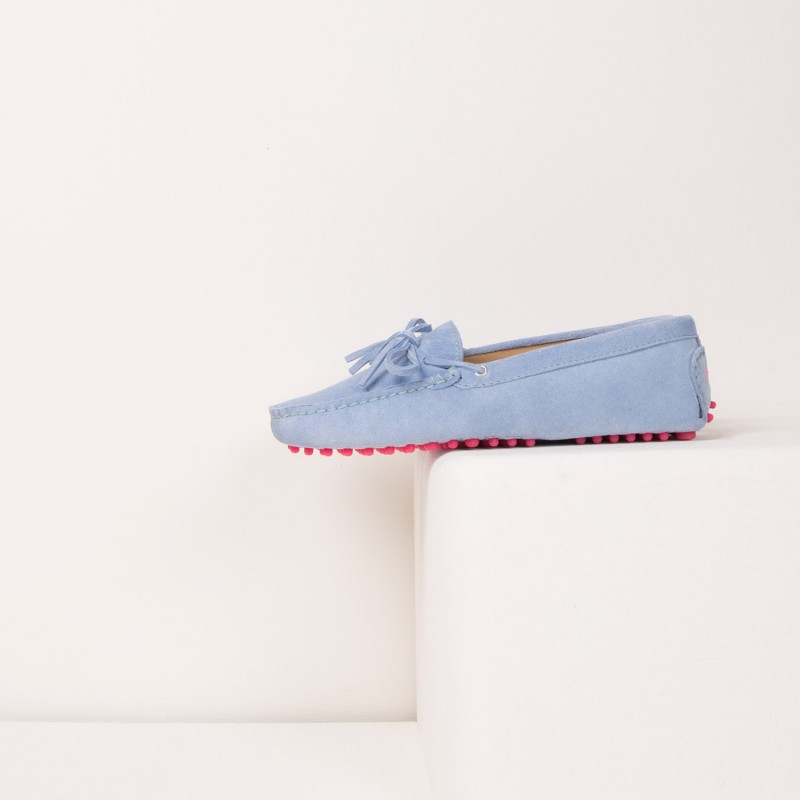 Driving Loafers : L'Amoureuse - Azurin Blue