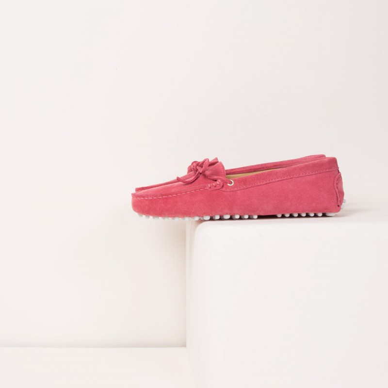 Driving Loafers : L'Amoureuse - Samba Pink