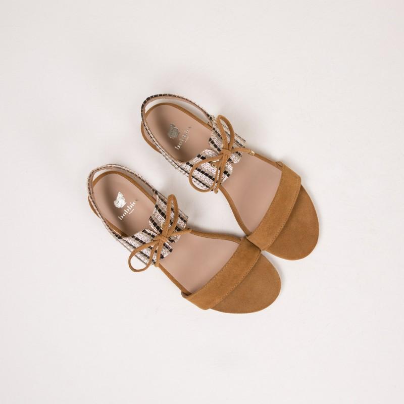 Sandales Plates : L'Enchantée - Muscade