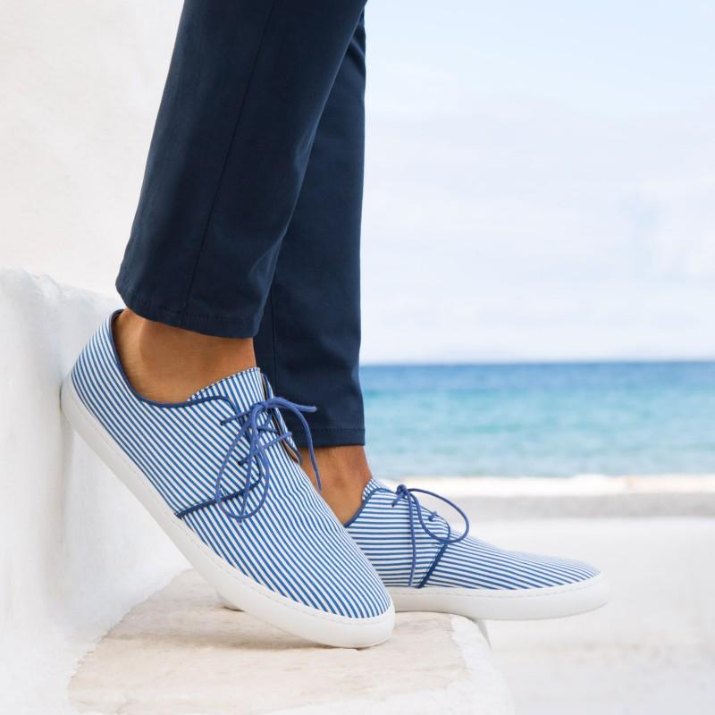 Sneakers : Le Plaisancier - Blanc & Bleu