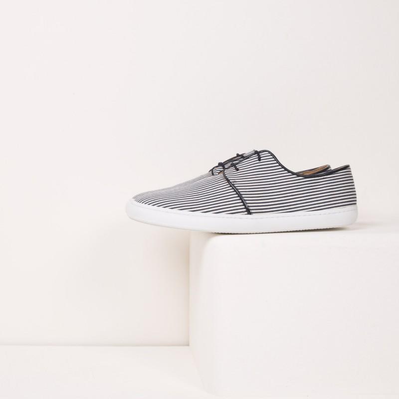Sneakers : Le Plaisancier - Blanc & Marine
