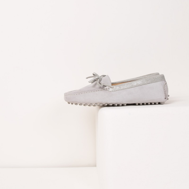 Driving Loafers : La Craquante - Pearl Grey