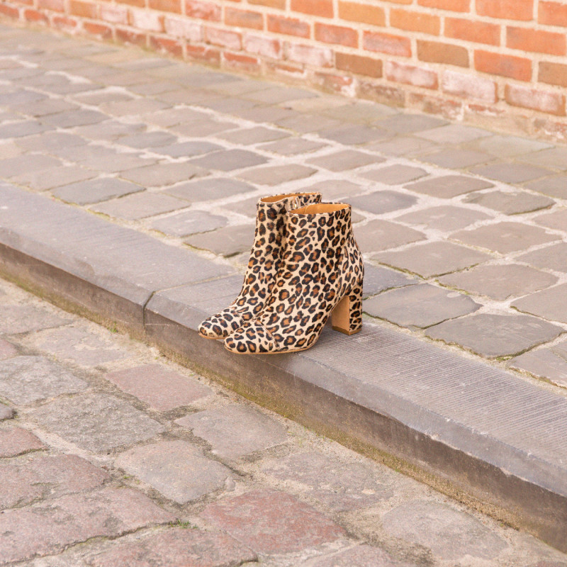 Boots L'Énigmatique Léopard Boots Léopard Léopard Cuir L'Énigmatique ZPkXiu