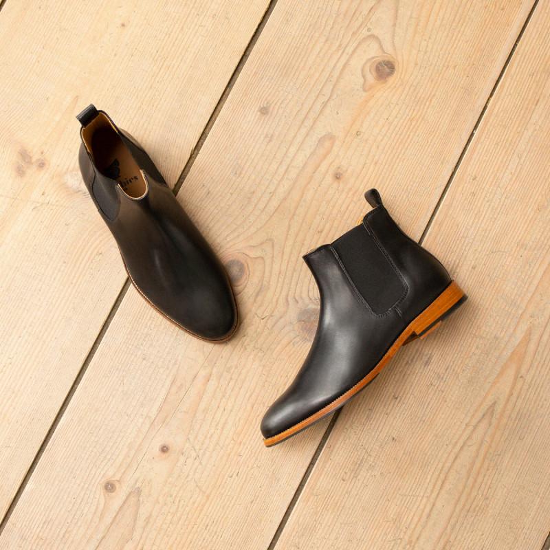 b1069f73b59 L Horloger - Noir Intense - Chelsea Boots Cuir