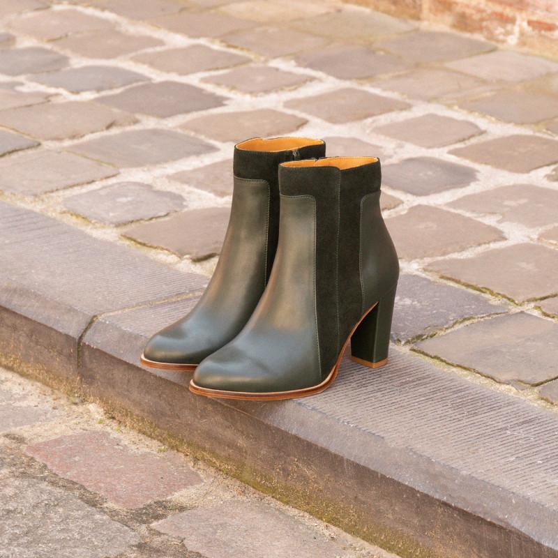 Anglais La Sublime talons Bobbies à Boots Vert TF1J3lcK