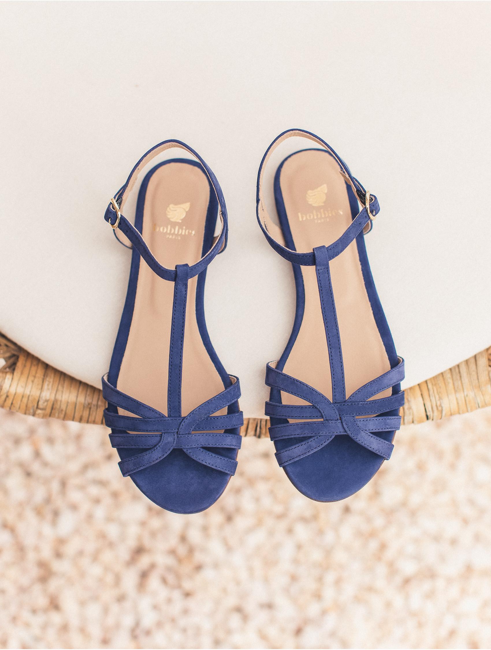 Égyptien Bleu La Plates Sandales Merveille Bobbies IEe9W2DHY