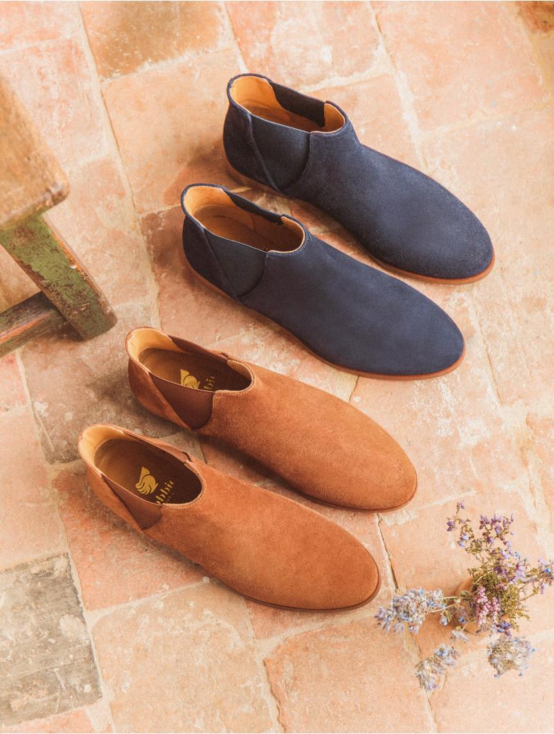 Boots (Plates & Mi Hautes) La Londonienne Bleu Marine Bobbies