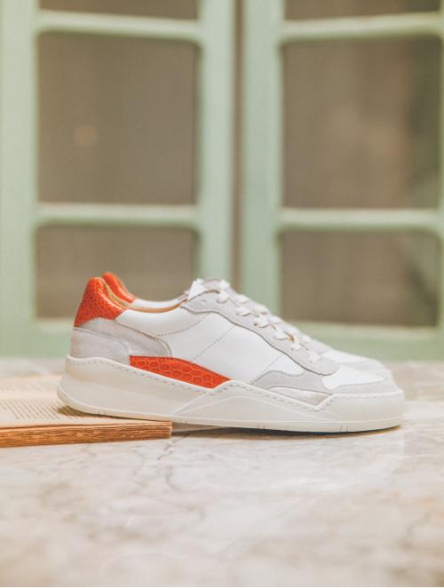 La Beverly - White-Orange Wild-Silver