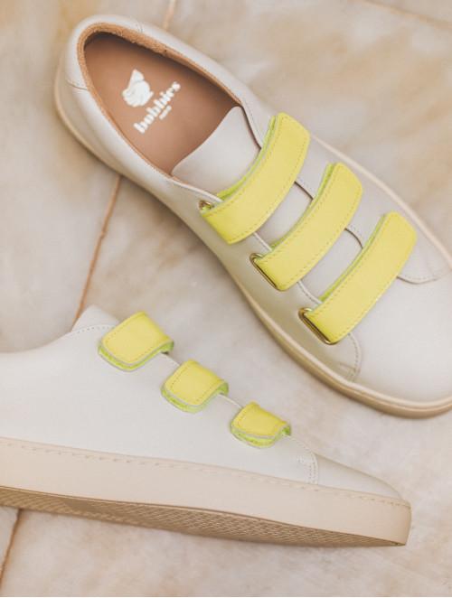 La Scotchée - Off-White & Fluo Yellow