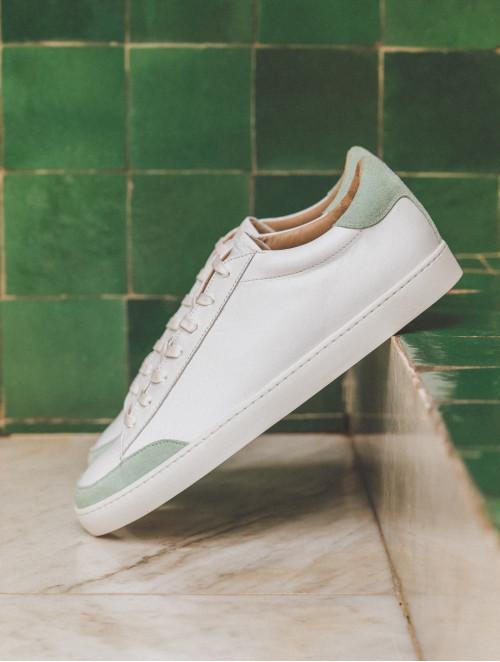 Le Challenger - Blanc & Zanzibar green