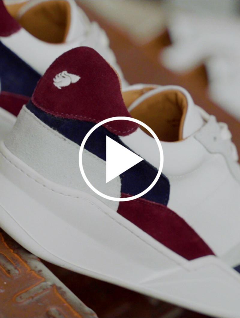 Malibu - White - Burgundy - Navy
